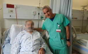 גבר שחלה מתה שהוכן מהרדוף וד:ר אלעד אשר (צילום: שערי צדק)