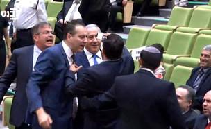 עודה תוקף את נתניהו בדיון על חוק המצלמות (צילום: ערוץ הכנסת)