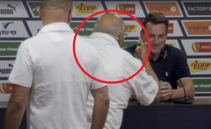 מסיבת עיתונאים אנדי הרצוג (צילום: צילום מסך מתוך עמוד הפיייסבוק של ערוץ הספורט)