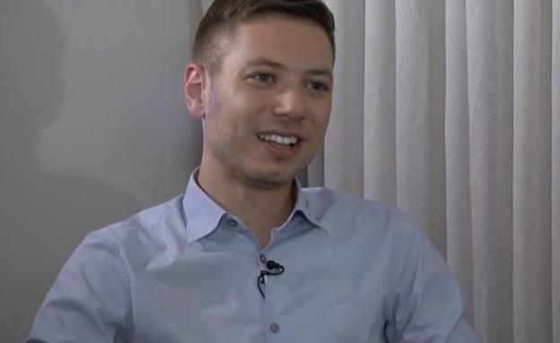 יאיר נתניהו בראיון לערוץ 20 (צילום: ערוץ 20)