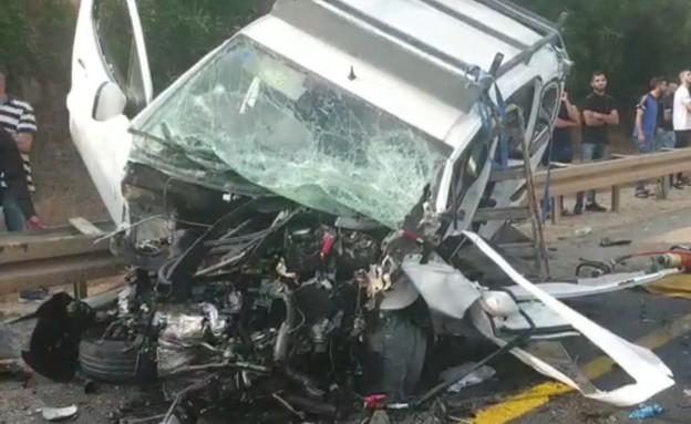 תאונה קשה בגליל התחתון  (צילום: דוברות מדא)