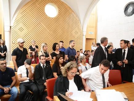 ההורים מהגן של כרמל מעודה באולם בית המשפט