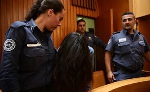 כרמל מעודה באולם בית המשפט (צילום: אסתי דזיובוב/TPS)