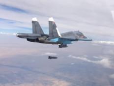 סוחוי 34 בסוריה (צילום: משרד ההגנה הרוסי)
