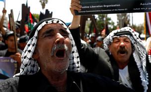 עצרת פלסטינית (צילום: רויטרס)