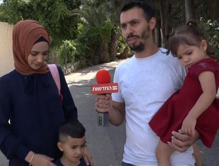 מצביעים באום אל פאחם (צילום: אור רביד, החדשות 12)