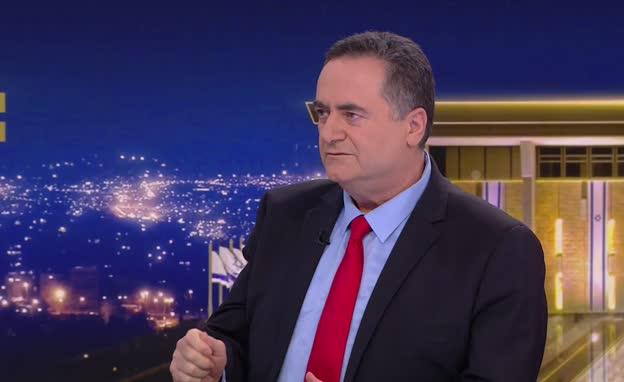 """ריאיון עם השר ישראל כ""""ץ (צילום: חדשות)"""