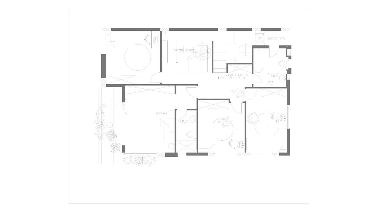 בית בחוף הכרמל, עיצוב מיכל מטלון, תוכנית קומה עליונה