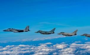 """תרגיל חיל האוויר בבריטניה (צילום: דובר צה""""ל)"""