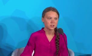 פעילת איכות הסביבה הצעירה משוודיה, גרטה תונברג (צילום: חדשות)