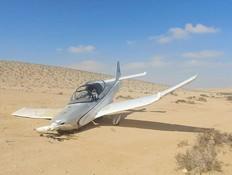 תיעוד מתא הטייס: מטוס קל התרסק בנגב