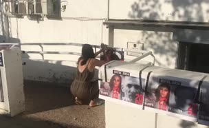 מחאת מטה המאבק לשחרור סימונה מורי (צילום: חדשות)