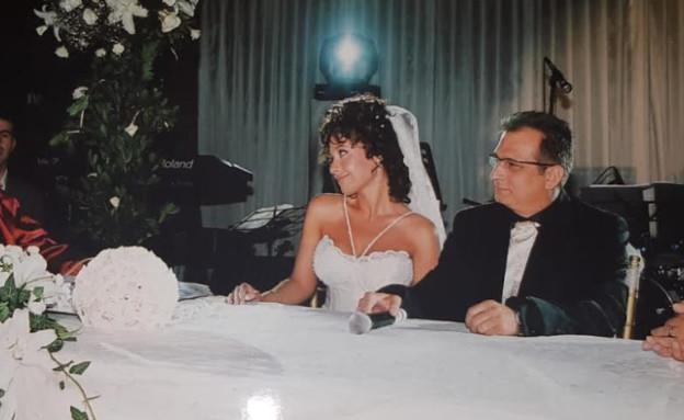 רנין ואבי בחתונתם (צילום: פרטי)
