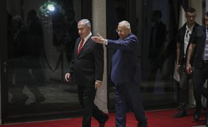 הנשיא ריבלין ונתניהו (צילום: Yonatan Sindel/Flash90)