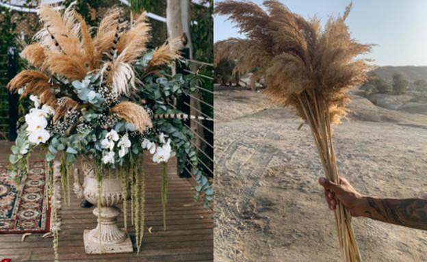 החתונה של שונית וחן עיצוב פרחים (צילום: בר כהן ואפי יוספי)