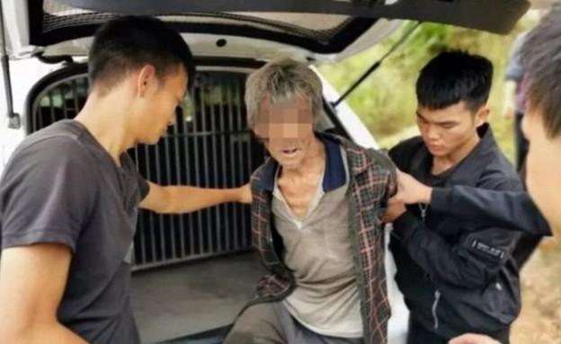 """אסיר שאותר על ידי מזל""""ט בסין (צילום: משטרת יונגשאן)"""