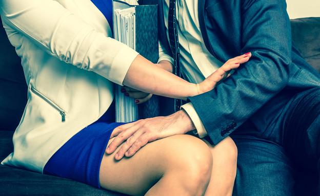 הטרדה מינית (צילום: shutterstock, Nadezda Barkova)