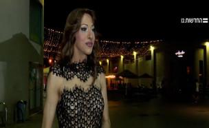 דנה אינטרנשיונל נגד כתבת חדשות 12 (צילום: חדשות  12)