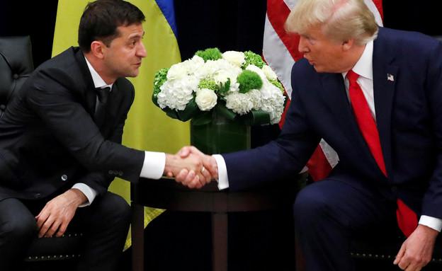 דונלד טראמפ וולדימיר זלנסקי נשיא אוקראינה (צילום: רויטרס)
