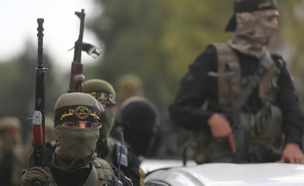 מפגן הכוח של הג'יהאד האסלאמי (צילום: TPS)
