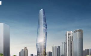 המגדל הגבוה בישראל יוצא לדרך (צילום: חדשות)