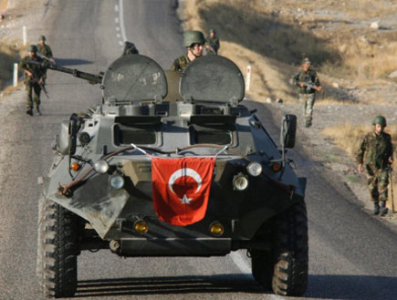 כוחות צבא טורקיה באזור הכורדי. ארכיון