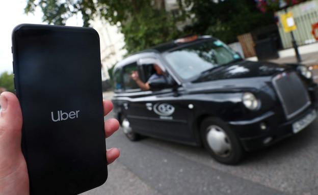 מונית אובר בבריטניה (צילום: רויטרס)