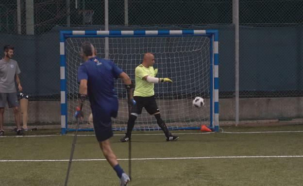 נבחרת ישראל בכדורגל לקטועי רגליים (צילום: החדשות12)