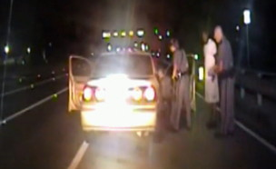 שוטר עזר ליילד תינוקת, תיעוד ממצלמת הניידת