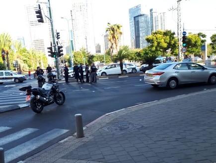 זירת התאונה שבה נהרג הילד איתי מרגי בתל אביב