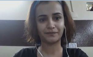 סימוב חסן העיתונאית הכורדית בראיון מיוחד (צילום: החדשות 12)