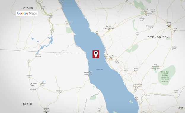 מיקום פיצוץ המכלית האירנית (צילום: Google maps)
