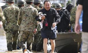 """הרוגים בסופת טייפון """"הגיביס"""" ביפן (צילום: רויטרס)"""