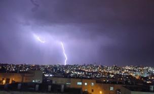 ברקים ורעמים בירושלים (צילום: משה יזרעאל)