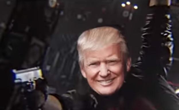 סרטון של טראמפ תוקף את התקשורת (צילום: YouTube/TheGeekzTeam)