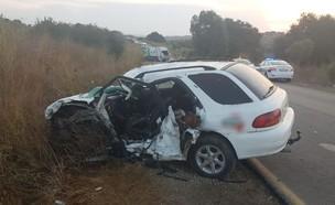 בן 22 נהרג בתאונת דרכים בוואדי ערה (צילום: דוברות המשטרה)