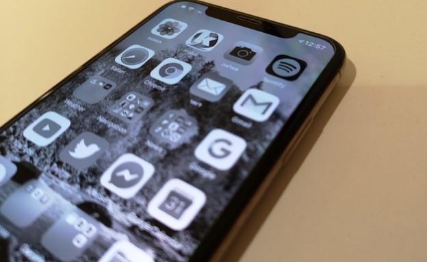 אייפון, מסנני צבע, שחור לבן (צילום: אהוד קינן, NEXTER)