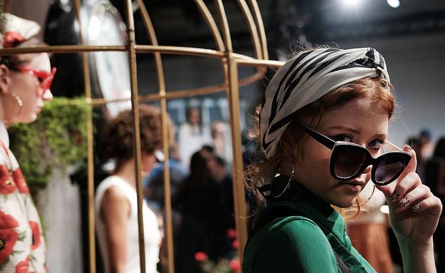 דוגמנית בשבוע האופנה בניו יורק (צילום: Spencer Platt, Getty Images)