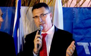 נאום גדעון סער (צילום: חדשות 12)