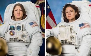 """קוך ומאיר בתחנת החלל: """"נפלא לתרום לתכנית"""" (צילום: NASA/AP)"""