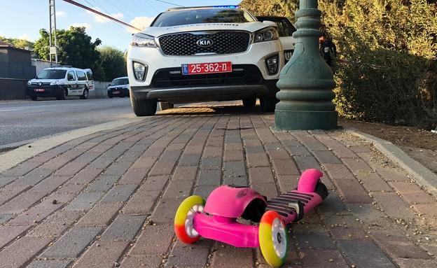בת 6 נפצעה בתאונה בבאר טוביה (צילום: דוברות המשטרה)