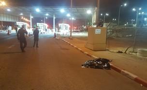 סוכל פיגוע דקירה במעבר תאנים ליד טול כרם (צילום: רשות המעברים במשרד הביטחון)