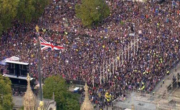 הפגנות בלונדון נגד הברקזיט (צילום: רויטרס, שי פרנקו, רויטרס)