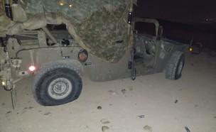 הרכב הצבאי שהותקף ביצהר