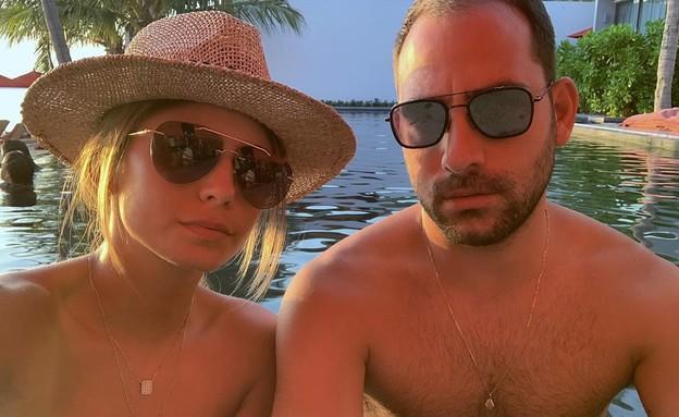 עמיר גולדברג ובת הזוג (צילום: מתוך עמוד האינסטגרם של רז קובה)