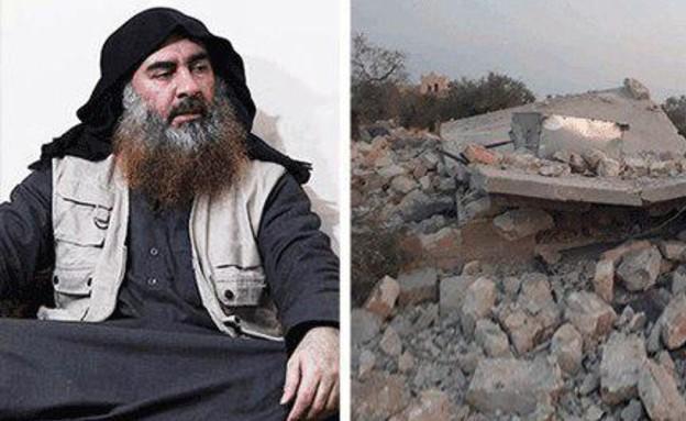 אבו באכר אל בגדאדי וזירת המבצע (עיבוד: התקשורת העירקית)