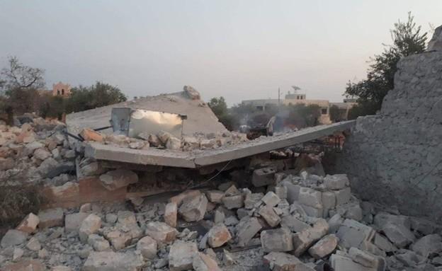 """זירת התקיפה במבצע לחיסול מנהיג דאע""""ש אל בגדאדי (צילום: מתוך הטלוויזיה העירקית)"""