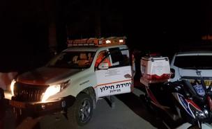 מטייל נפל מצוק במדבר יהודה (צילום: דוברות איחוד הצלה )