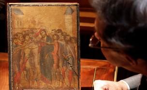 הציור התגלה במקרה - ונמכר במיליונים (צילום: SKY NEWS)