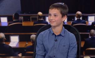 נועם כץ, ילד פוליטי (צילום: החדשות 12)